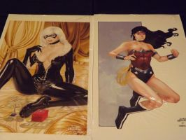 Black Cat and WW New 52 Prints by wardogs101