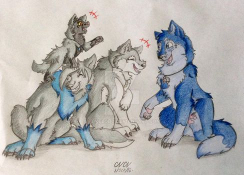 Blue and Gray by Pokelobo
