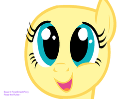 MLP Cute Face Base by FinalSmashPony
