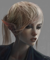 The face study elf by Illumikage