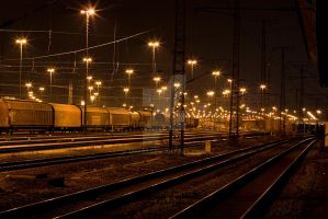 trains at night 2 by mef87