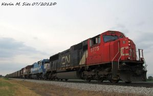 CN 5775 CN 5403 and BCOL 4603 lead NS 437 by EternalFlame1891