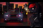 Waiting for midnight~ / Collab with Kate. by Mennorino