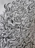 Ghost Rider - Pencil version 1 by DustyPaintbrush