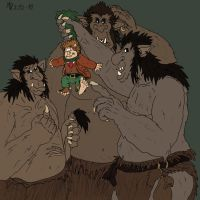 Bilbo and the trolls by Mara999