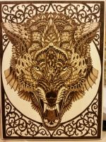 Woodburning - Skill Test - Wolf By BioWorkZ by Stepher17