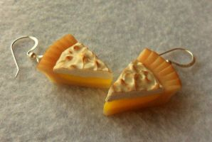 lemon meringue pie earrings by ScrumptiousDoodle