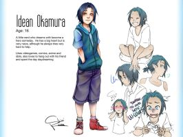 Character Profile - Idean Okamura by Shiroi-Raven