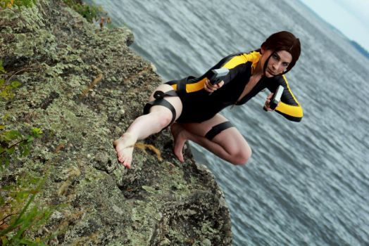 Lara Croft wetsuit cosplay by AlliApocalips