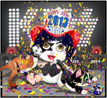 KISS Your Baby New Year w/friends by medek1