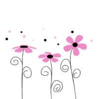Pink Flowers PNG by HanaBell1