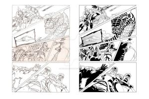 Page from pencil to inked by doughboy2169