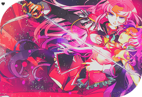 Utena and Anthy by anewashere