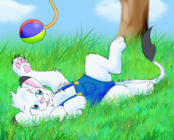 Playfull little Kimba by TheMiles