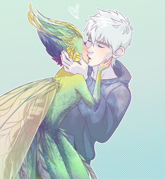 Frostbitten - Jack Frost and Toothiana by NightLiight