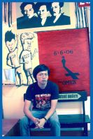 hendry and his mural 02. by hendryong