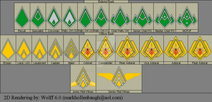 BSG Fleet Rank pins by Wolff60