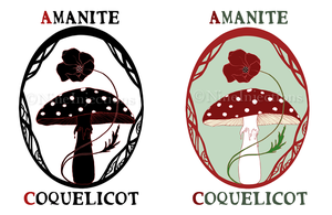 Amanite et Coquelicot by NineInjections