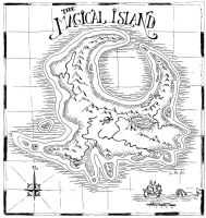 The Magical Island Map by zombie2012