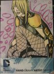 Black Canary New DC 52 sketch card by Grymjack