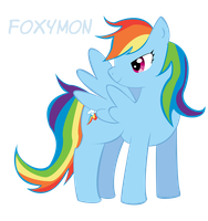 MLPFiM: Rainbow Dash by Foxymon