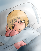 APH-He looks cuter asleep by Yuzuhi