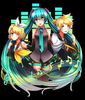 Triad [Hatsune Miku Design Contest] by Scuroro