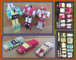 TINY AUTOBOTS LAMBORGHINIS IN PAPER by Paperman2010