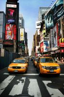 Times Square Cabs by theGentle