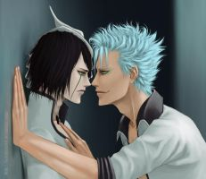 Bleach : Ulquiorra x Grimmjow by KarlaFrazetty