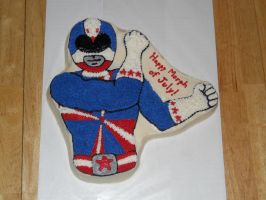 4th of July Power Rangers Cake by towelgirl21
