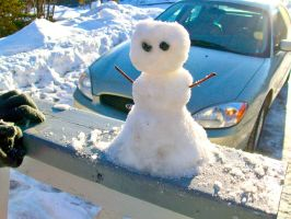 The Man Made of Snow by screamingoldwoman