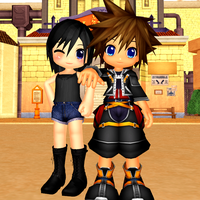 Chibi Xion and Sora DL by MadameMidnightRose