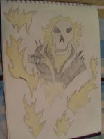 Ghost Rider Close Up Tattoo by dracosear