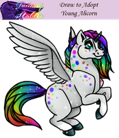 Closed Rare Fantasy Stables Draw to adopt Alicorn by DragonsFlameMagic