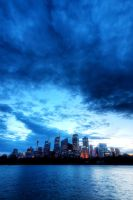 Blue Sydney Skyline HDR by leafinsectman