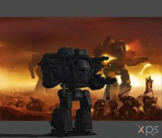 warhammer 40k space marine warlord titan by soulbrother73