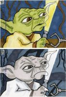 Star Wars Galactic Files - Yoda with Flashlight by 10th-letter