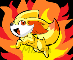 Fennekin the Fire Fox by XMizanX