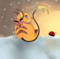 raichu snow by gaara-lover-9