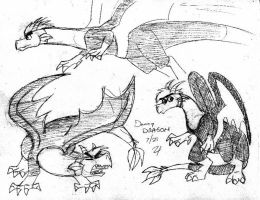 Three Danny Dragon Sketches by whitegryphon