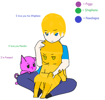 Pewdie Stephano and Piggy by avrilrocks1200