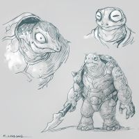 creature designs doodles by kehchoonwee
