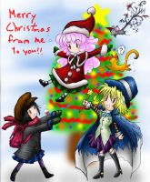 In the Air Christmas by blu-chocobo