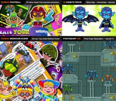 Cartoon Character Layout by bionicBots