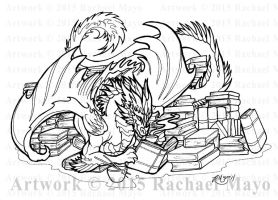 Bookwyrm 02 Fundraiser Art by rachaelm5