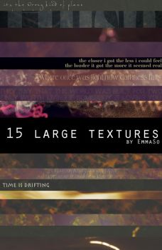 Texture Pack 01 - 15 large Textures by EmmaSo