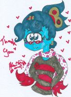 Thank you from Lana B ghost by Kittychan2005