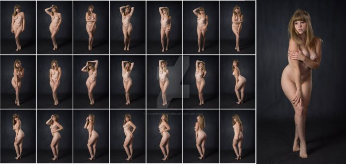 Stock: Corrine Standing Art Nude Poses - 21 Images by stockphotosource