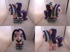 MLP Aria Blaze Plush (commission) by Little-Broy-Peep